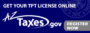 Get your TPT License Online, AZ Taxes.gov, Register NowOpens in new window