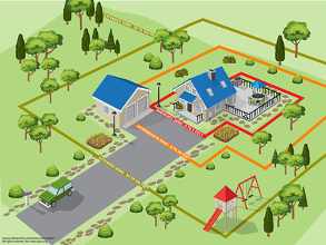 Graphic for how to create a defensible space around your home (JPG)