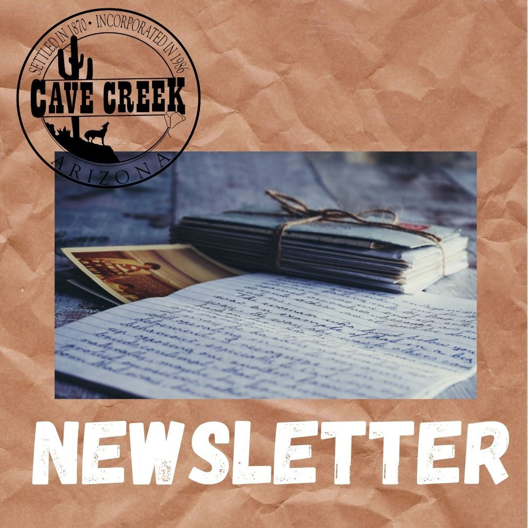 Image of Paper Representing Town of Cave Creek's Newsletter