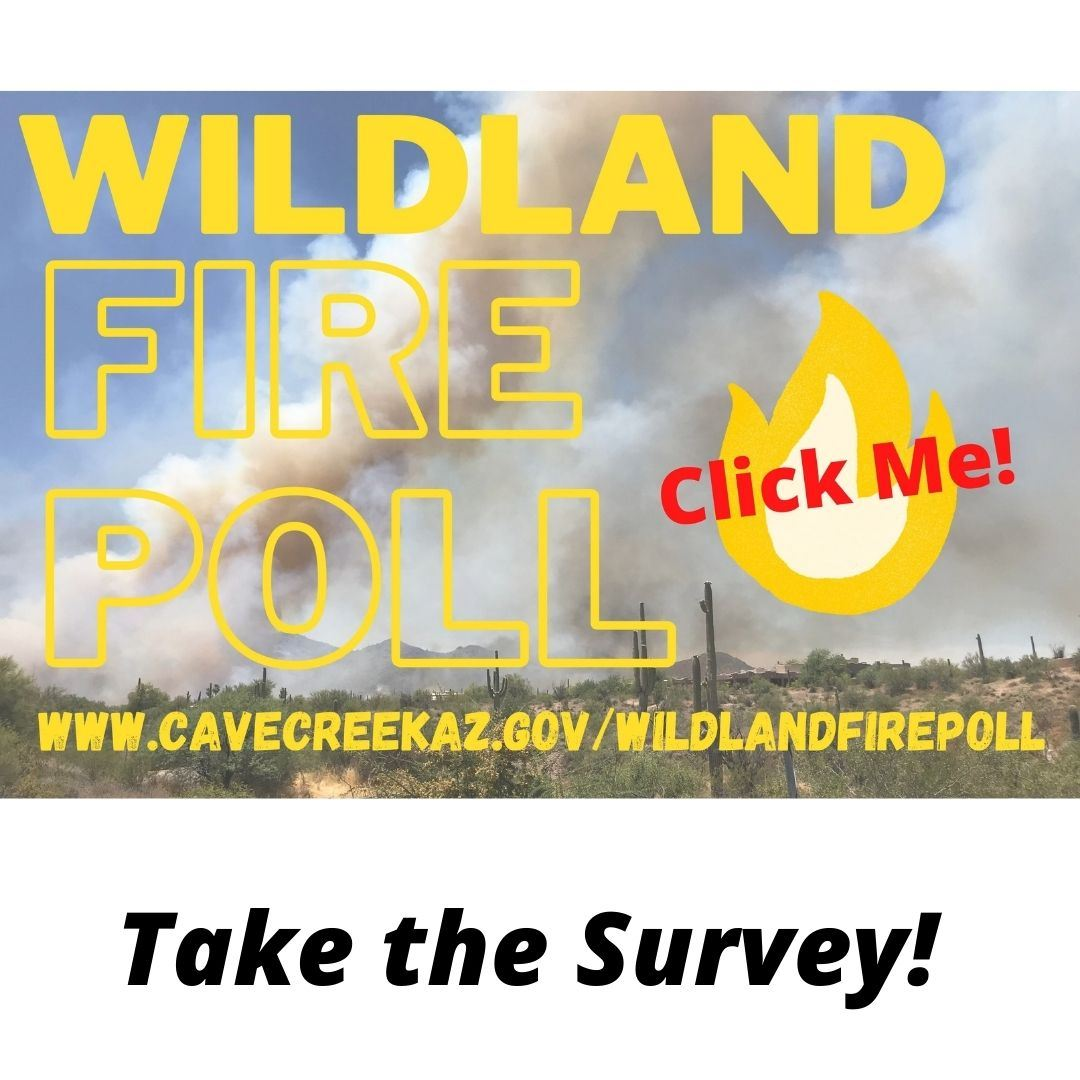 Text reading wildland fire poll
