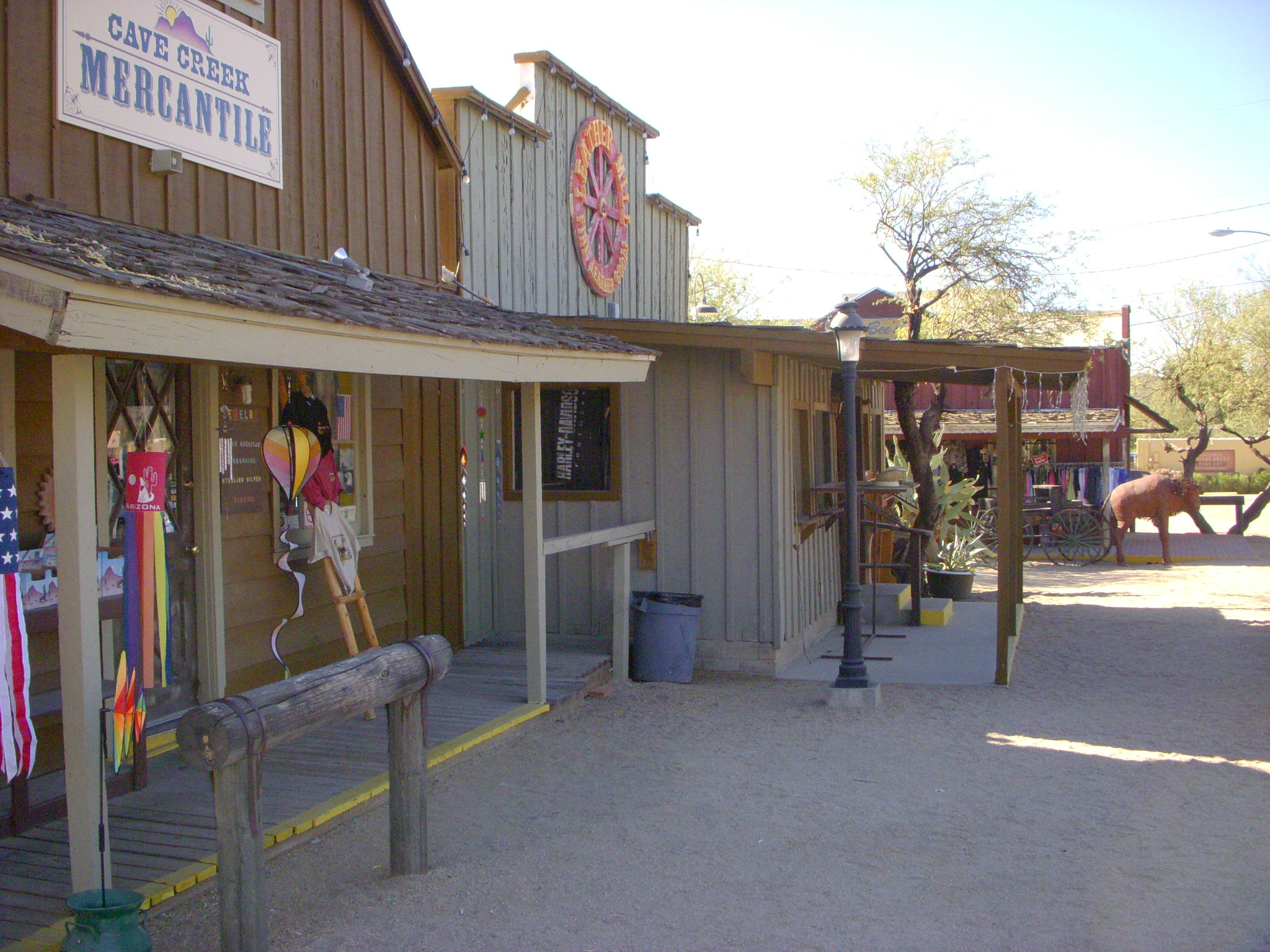 An outside view of the the Cave Creek Mercantile at Frontier Town in Cave Creek.